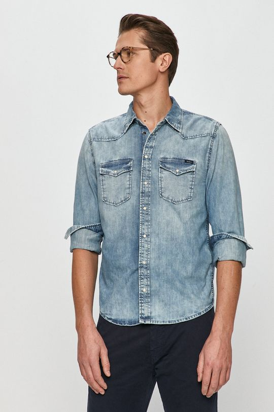 Pepe Jeans - Koszula jeansowa Męski