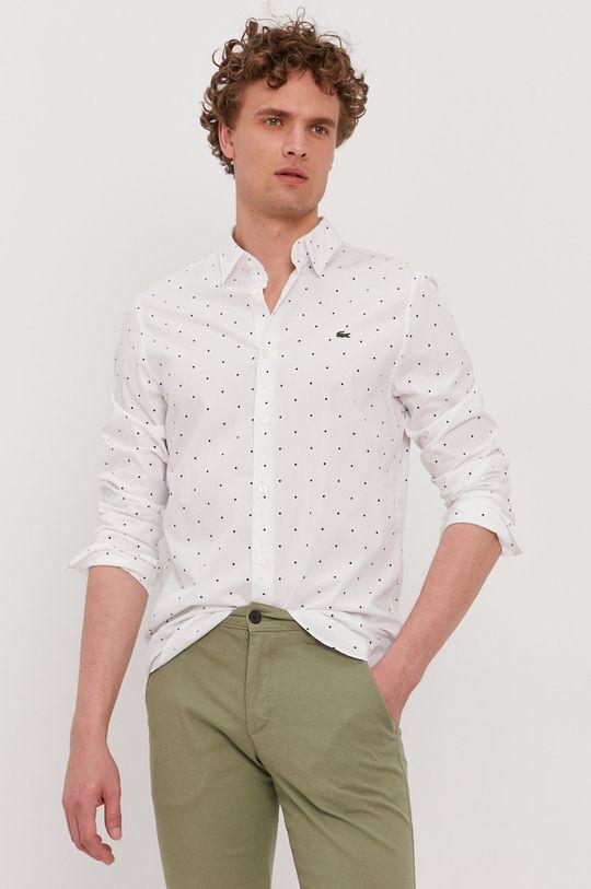 biela Lacoste - Bavlnená košeľa Pánsky