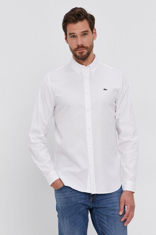 biały Lacoste - Koszula CH1843 Męski
