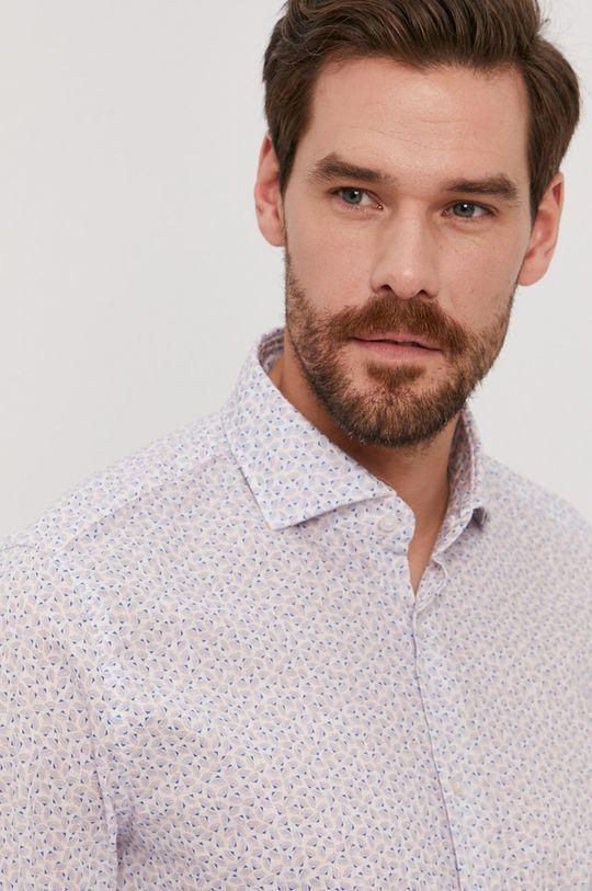 blady niebieski Strellson - Koszula bawełniana Męski