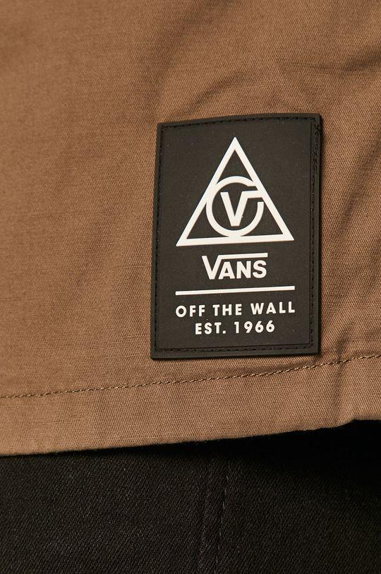 Vans - Bavlněná košile tlumená zelená