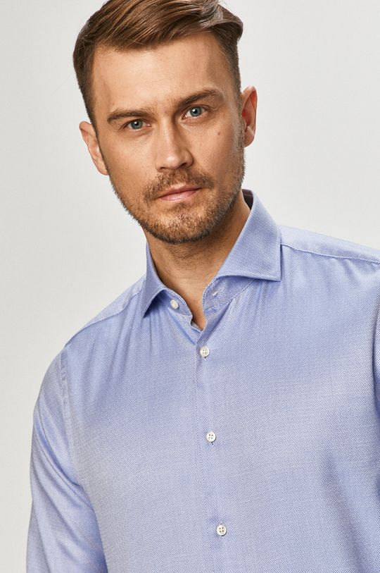 modrá Joop! - Bavlnená košeľa Pánsky