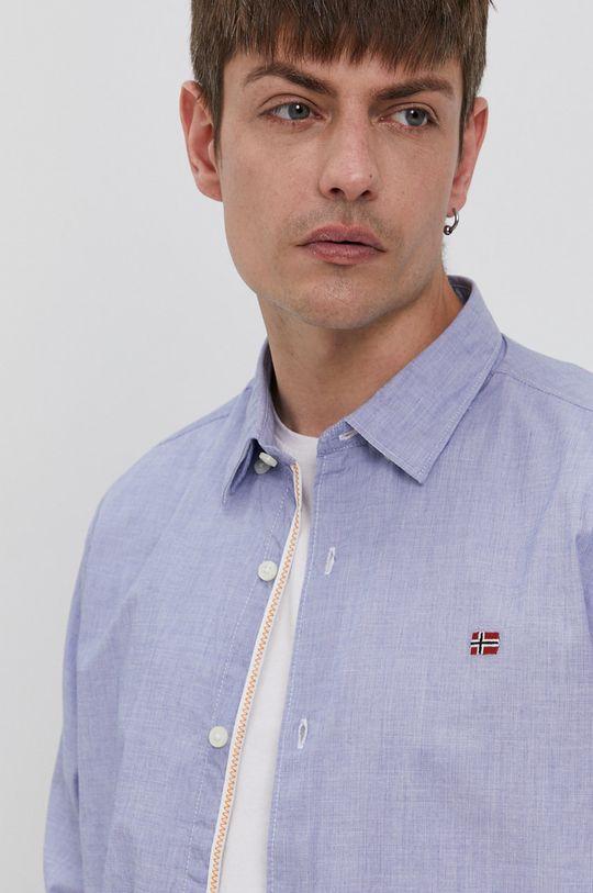 modrá Napapijri - Bavlněné tričko Pánský