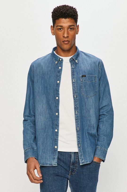 niebieski Lee - Koszula bawełniana Męski