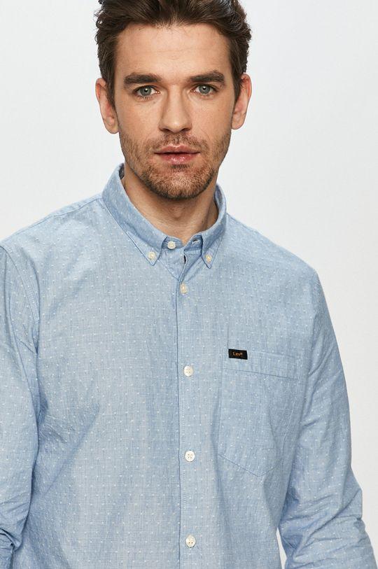 světle modrá Lee - Bavlněné tričko Pánský