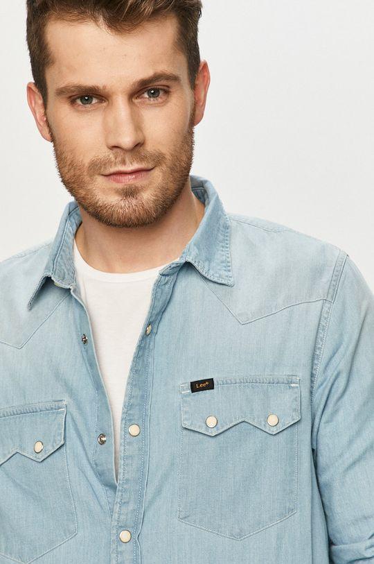 blady niebieski Lee - Koszula jeansowa Męski