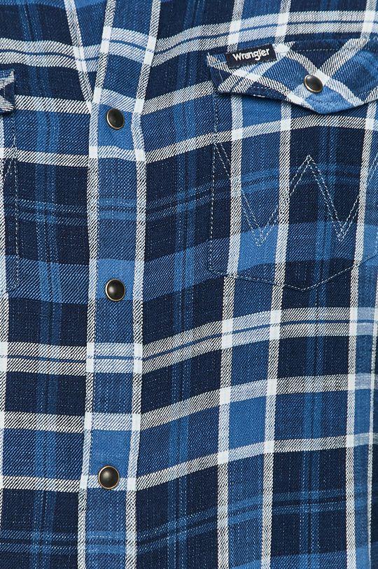 Wrangler - Bavlněná košile modrá