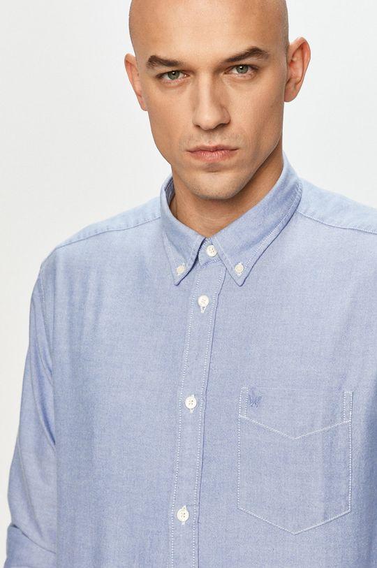 jasny niebieski Wrangler - Koszula bawełniana Męski