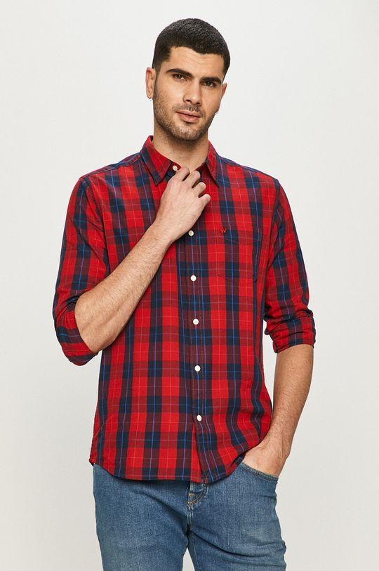 červená Wrangler - Bavlněné tričko Pánský