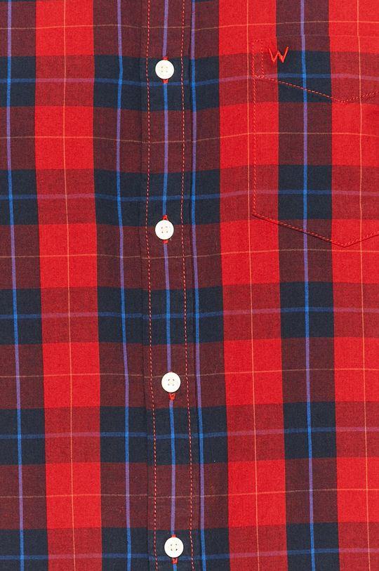 Wrangler - Bavlněné tričko červená
