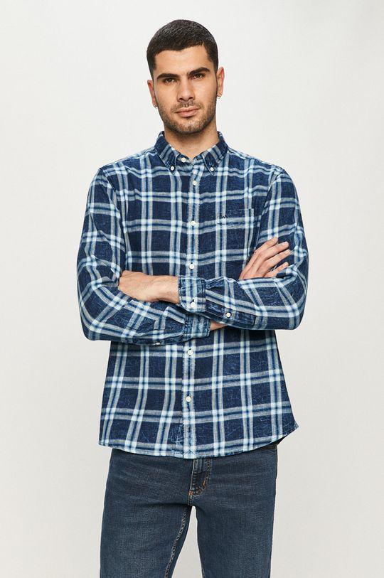 niebieski Wrangler - Koszula bawełniana Męski