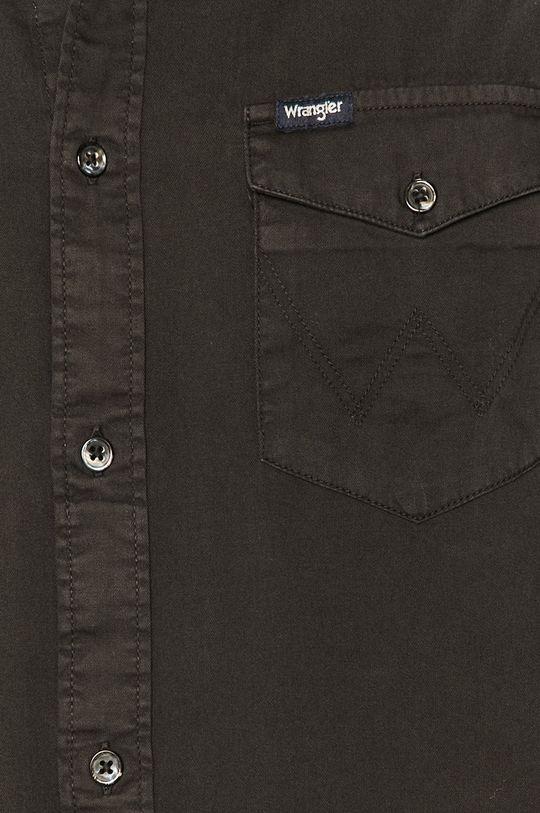 Wrangler - Koszula bawełniana czarny