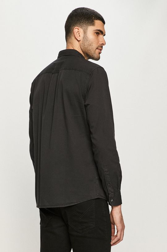 czarny Wrangler - Koszula bawełniana