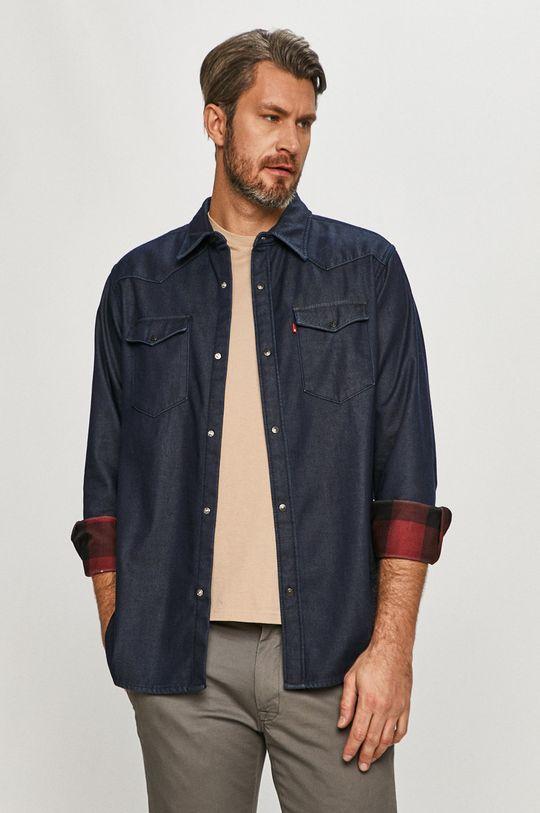 granatowy Levi's - Koszula jeansowa Męski