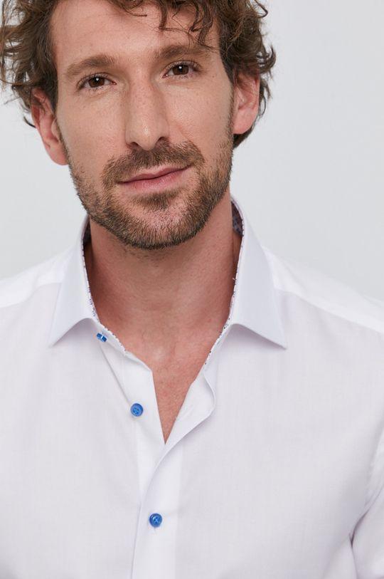 biały Emanuel Berg - Koszula bawełniana Męski
