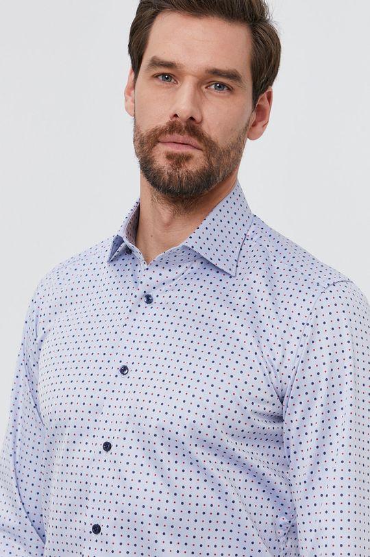 světle modrá Emanuel Berg - Bavlněné tričko Pánský