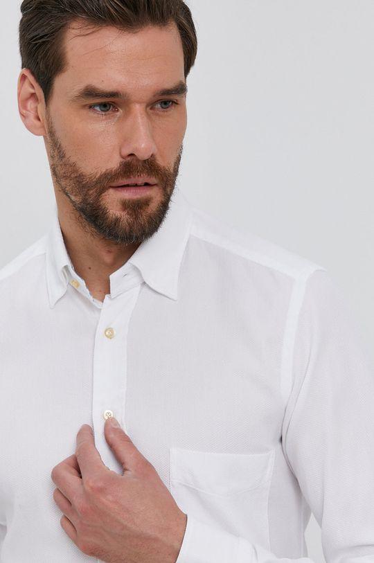 biela Emanuel Berg - Bavlnená košeľa Pánsky