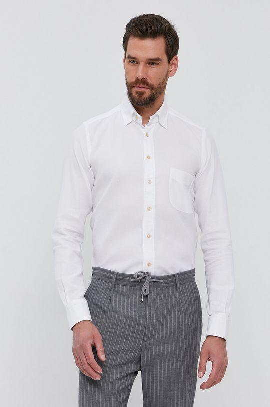 biela Emanuel Berg - Bavlnená košeľa
