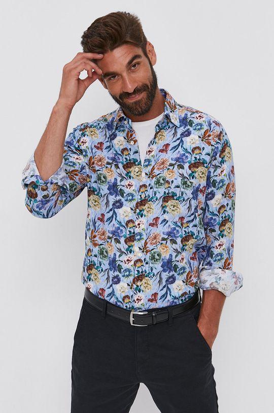 vícebarevná Emanuel Berg - Bavlněné tričko Pánský