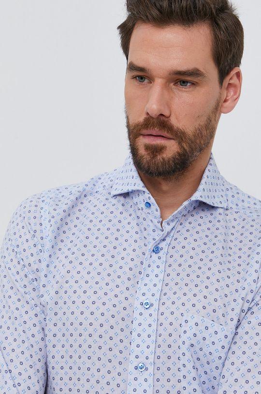 jasny niebieski Emanuel Berg - Koszula bawełniana Męski