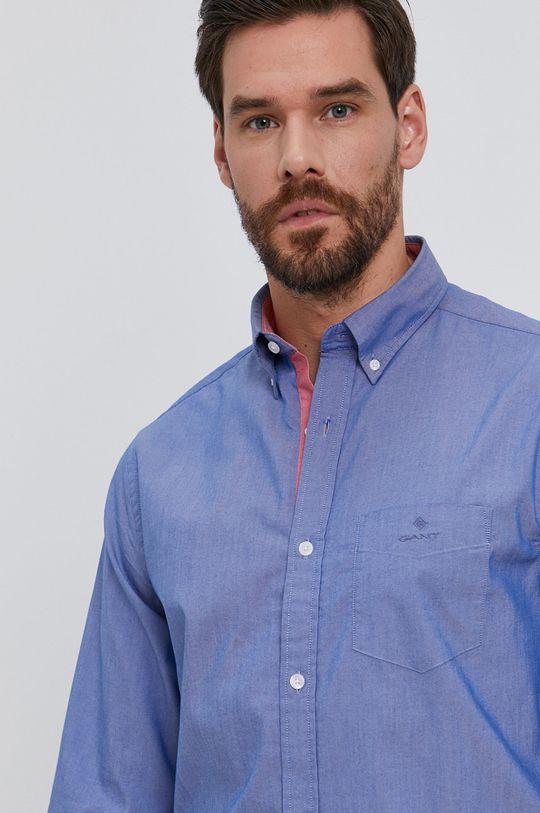 niebieski Gant - Koszula Męski