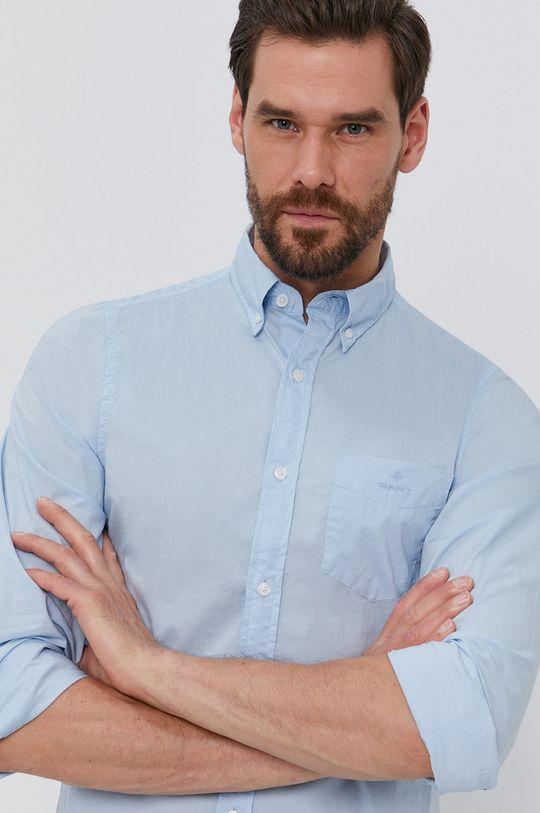 jasny niebieski Gant - Koszula bawełniana Męski