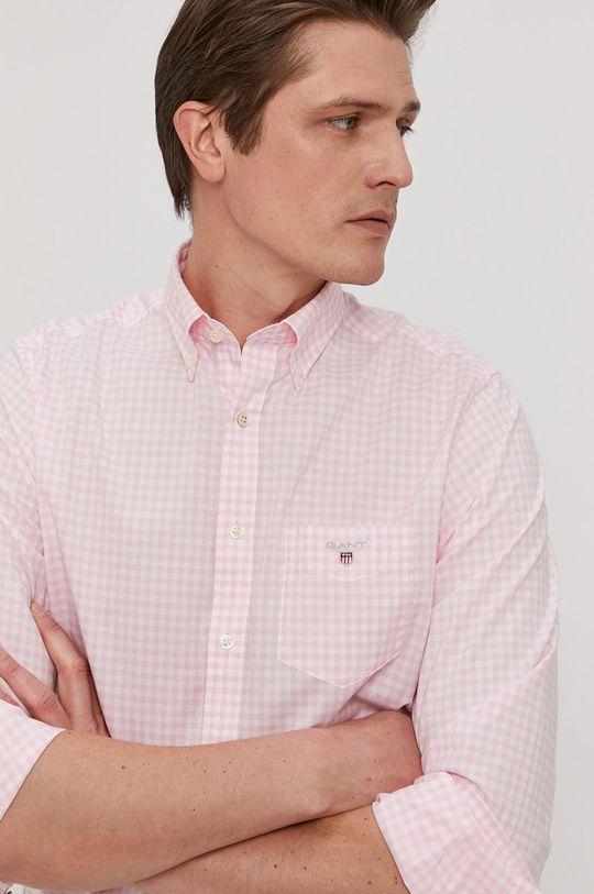 różowy Gant - Koszula bawełniana Męski