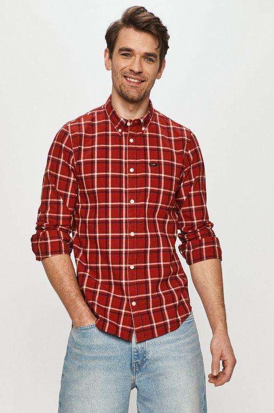 czerwony Lee - Koszula bawełniana Męski