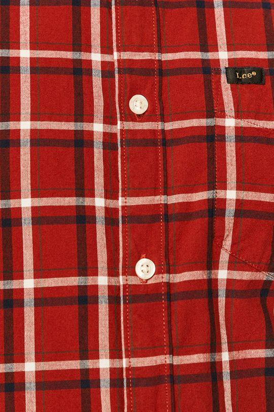 Lee - Koszula bawełniana czerwony
