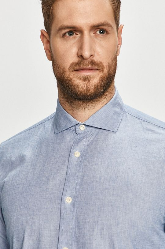 modrá Pepe Jeans - Bavlněné tričko Adam Pánský