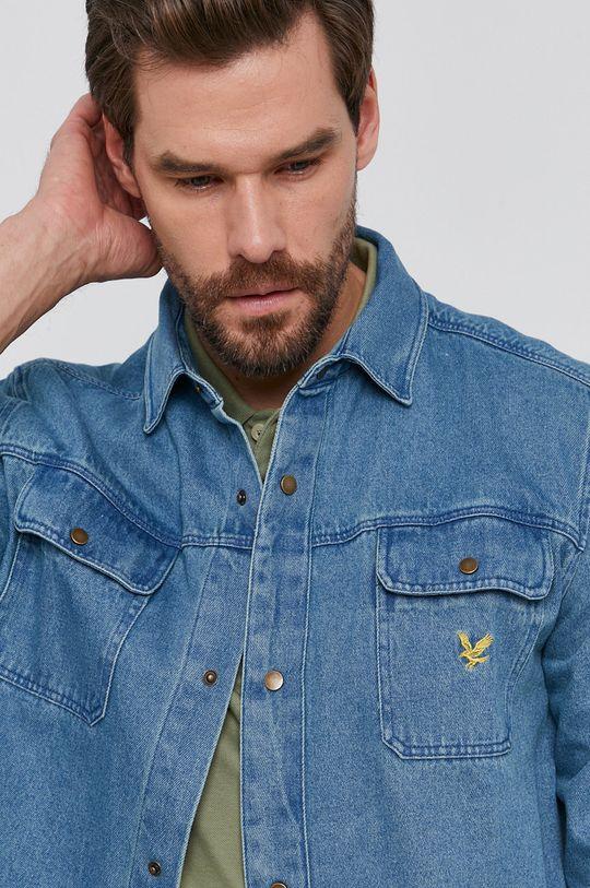 niebieski Lyle & Scott - Koszula jeansowa Męski
