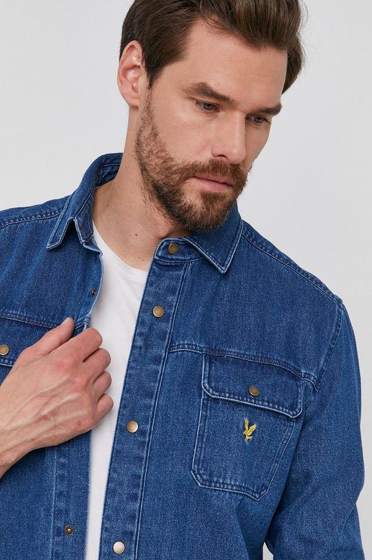 niebieski Lyle & Scott - Koszula bawełniana jeansowa Męski