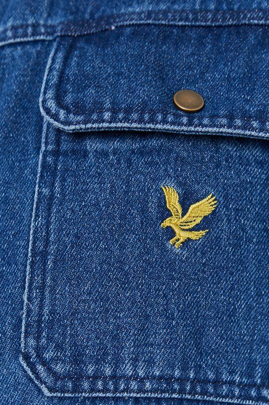 Lyle & Scott - Koszula bawełniana jeansowa niebieski
