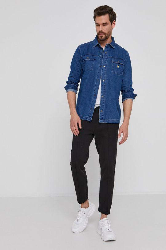 Lyle & Scott - Koszula bawełniana jeansowa 35 % Bawełna organiczna, 65 % Bawełna z recyklingu