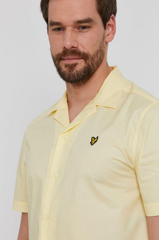 žlutá Lyle & Scott - Bavlněné tričko Pánský