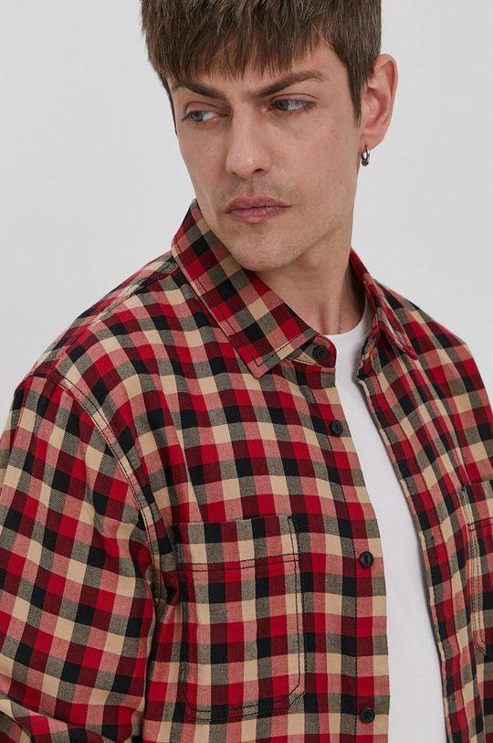 ostry czerwony Vans - Koszula bawełniana Męski