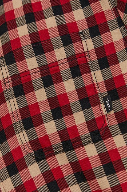 Vans - Koszula bawełniana ostry czerwony
