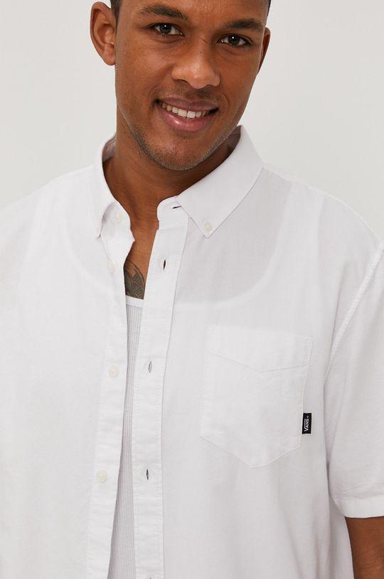 biela Vans - Bavlnená košeľa Pánsky