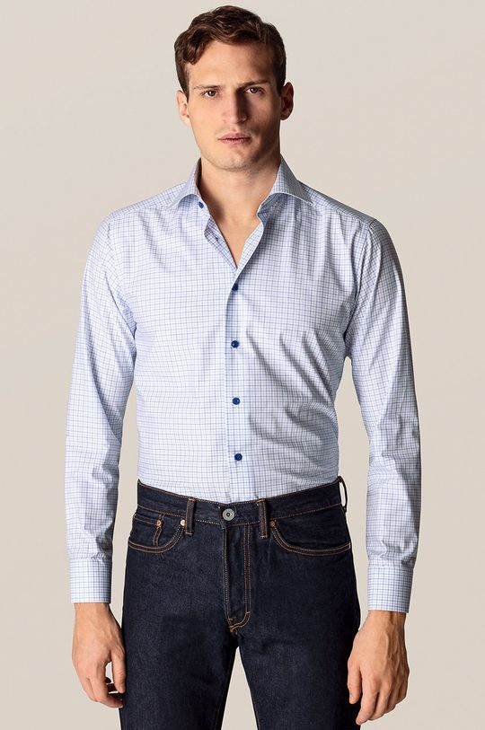 jasny niebieski ETON - Koszula bawełniana Męski