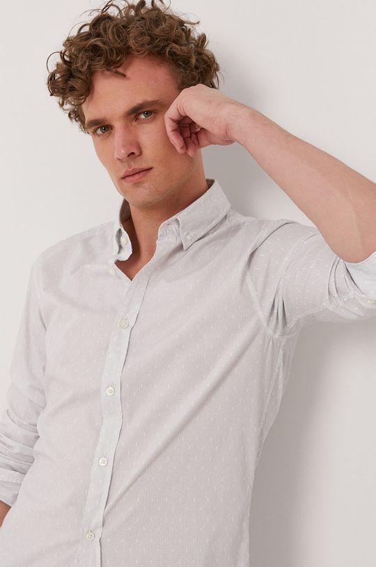 biały Boss - Koszula Boss Casual Męski