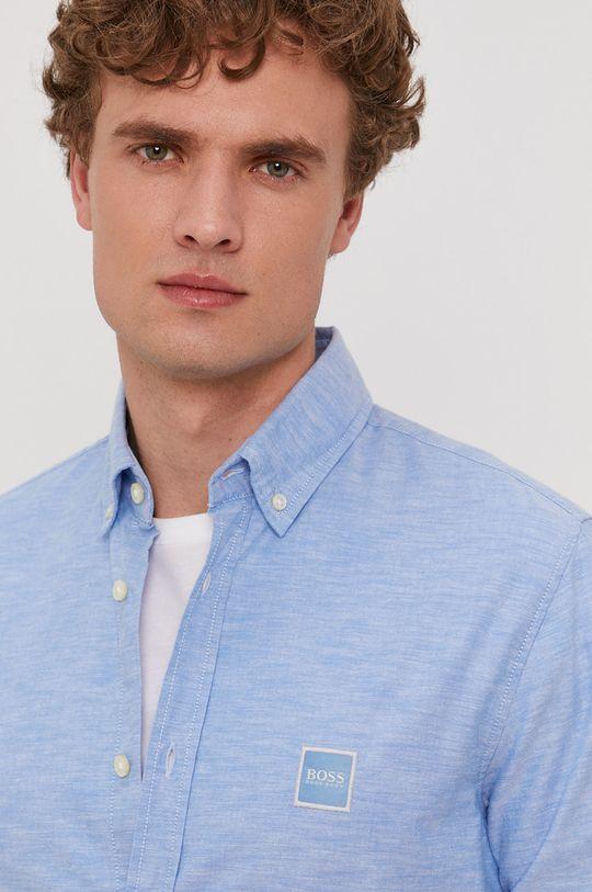 jasny niebieski Boss - Koszula bawełniana Boss Casual Męski