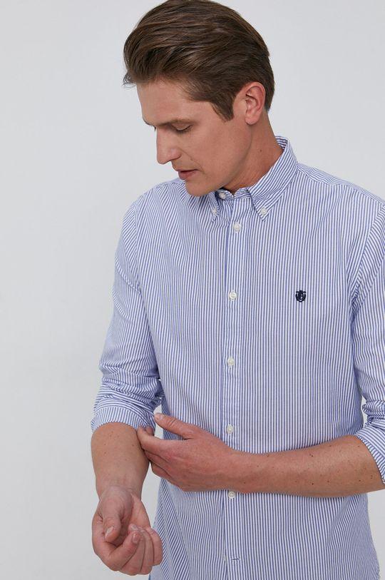 modrá Selected - Bavlněné tričko Pánský