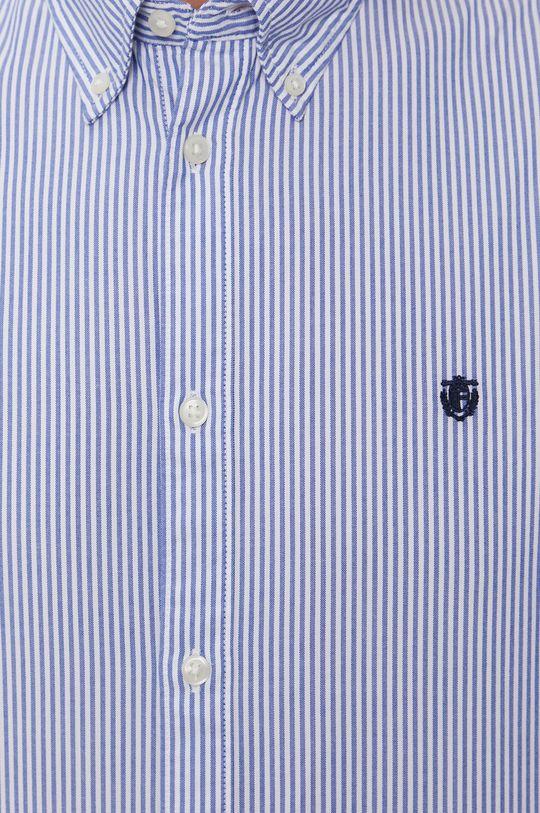 Selected - Bavlněné tričko modrá