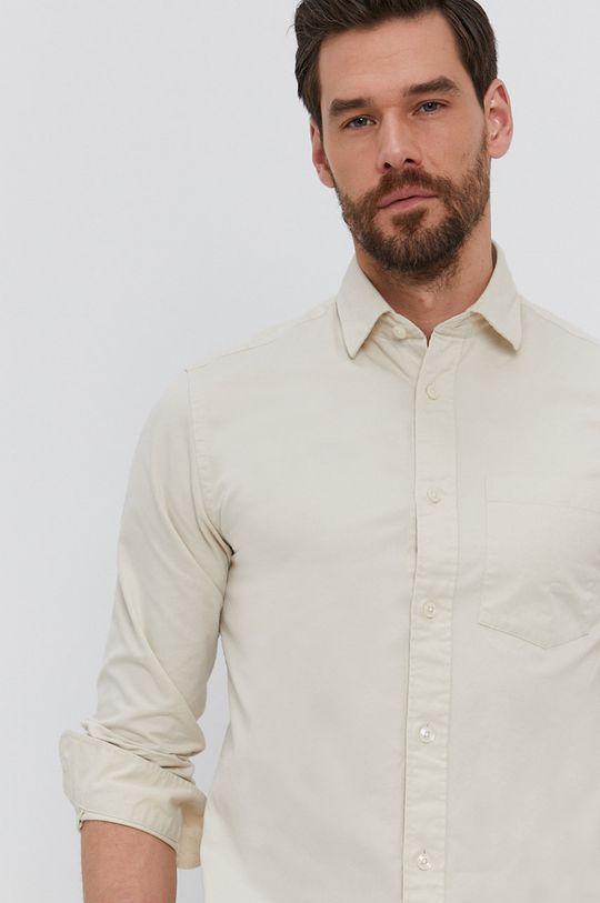 telová Selected - Bavlnená košeľa Pánsky