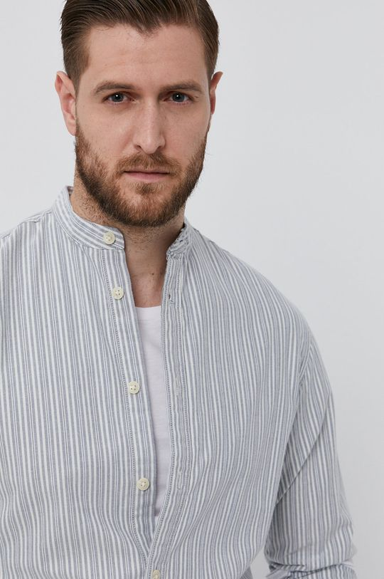 szary Selected - Koszula bawełniana Męski