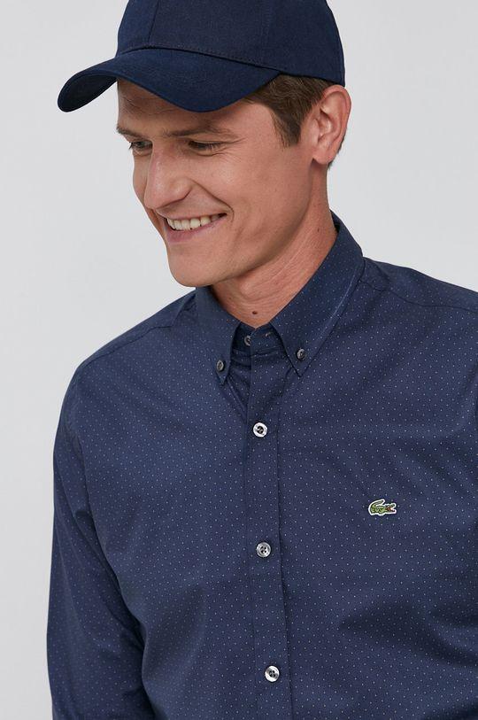 námořnická modř Lacoste - Bavlněné tričko Pánský