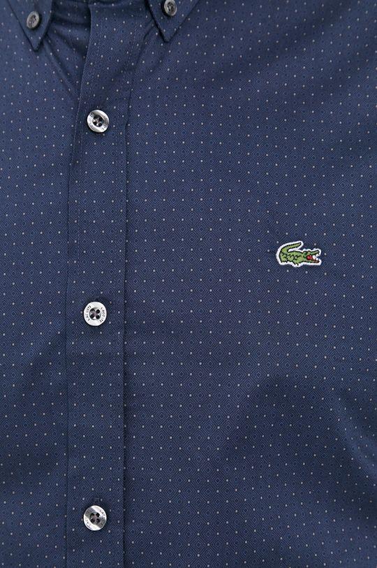 Lacoste - Bavlněné tričko námořnická modř