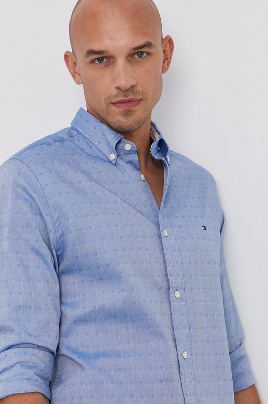 světle modrá Tommy Hilfiger - Bavlněná košile Pánský