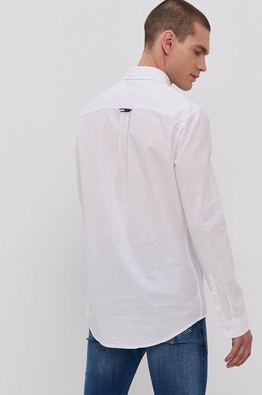biela Tommy Jeans - Bavlnená košeľa