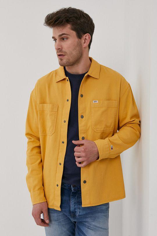 żółty Tommy Jeans - Koszula bawełniana Męski